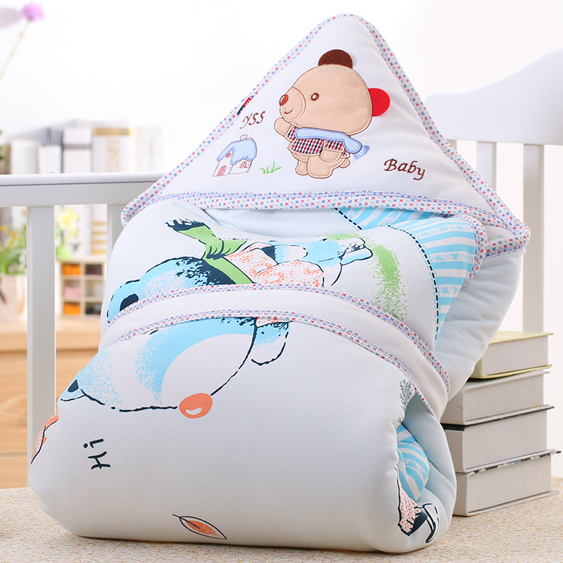Newborn holds winter baby parisarc autumn and winter 100% thick cotton baby blankets infant newborn baby swaddle wrap parisarc 100