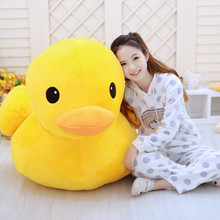 New Hong Kong Big Yellow Duck Pillows Plush Doll Toys Soft Plush Pillow Cushion Cartoon Solid Color Animal Dolls Holiday Gift 1pc 45 40cm simple pikachu pillow cushion plush toy dolls decorative pillows cartoon plush toys
