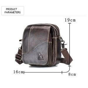 Image 4 - 2019 الرجال حقائب اليد العصرية جلد طبيعي الذكور حقيبة ساع رجل Crossbody حقيبة كتف حقائب السفر للرجال هدايا للأب