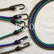 5 шт./лот 8 мм* 60 см длина велосипед эластичные шнуры банджи упругий канат привязан высокое Чемодан веревка с крюком как в конце