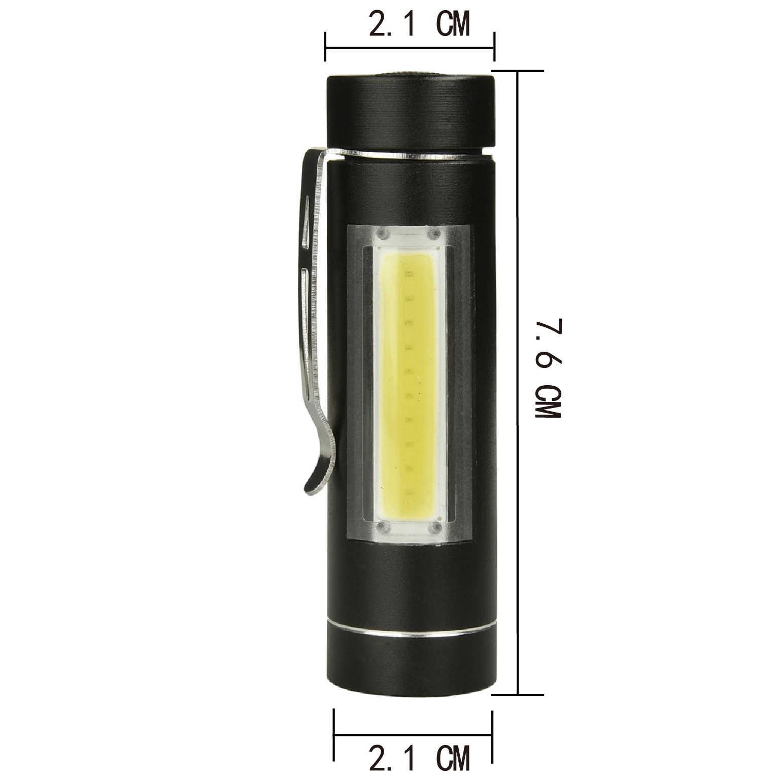 Litwod z90 + led cob mini lanterna tocha led 1 modo usar 14500 ou aa bateria para a leitura de acampamento trabalhando lanterna