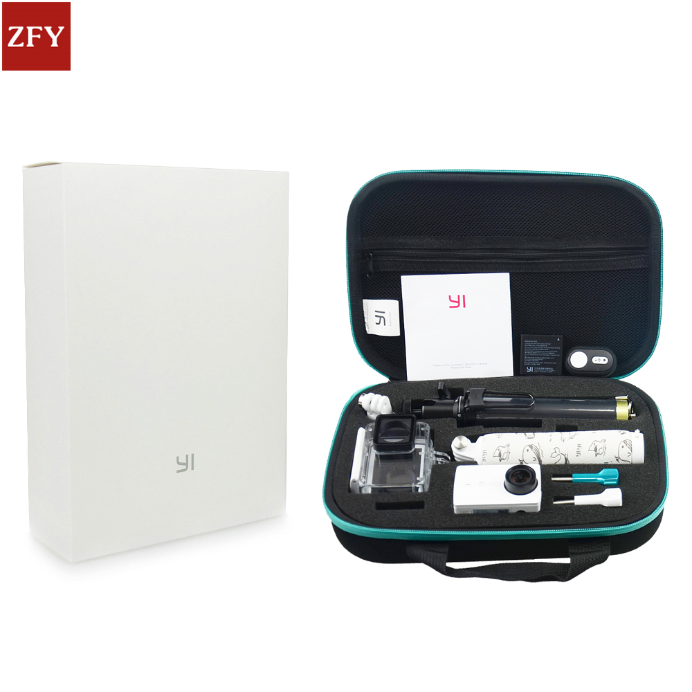 Original Xiaomi Yi2 4K Action camera Accessories Set Waterproof Case Bluetooth Selfie Monopod Camera Bluetooth Remote