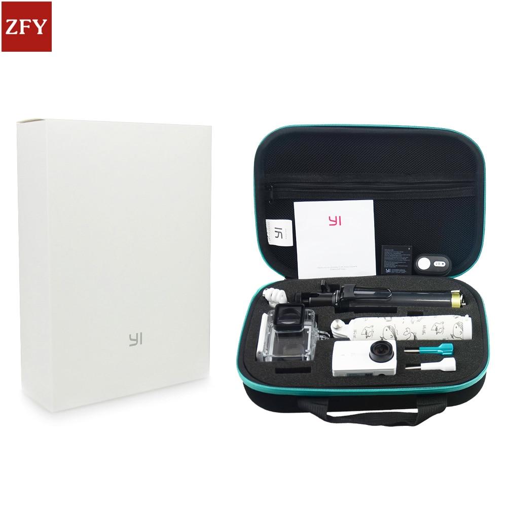 Original Xiaomi Yi2 4K Action camera Accessories Set Waterproof Case Bluetooth Selfie Monopod Camera Bluetooth Remote For Yi2 waterproof aqua box водонепроницаемый кейс для xiaomi yi action 4k black