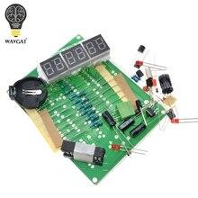 Наборы для самостоятельной сборки AT89C2051 электронные часы цифровая трубка светодиодный дисплей электронные компоненты и детали модуля DC 9 V-12 V