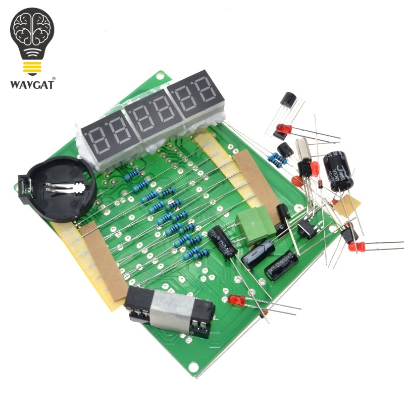 DIY Kits AT89C2051 Electronic Clock Digital Tube LED Display Suite Electronic Module Parts and Components DC 9V   12V|diy kit|electronic modulekit kits - AliExpress