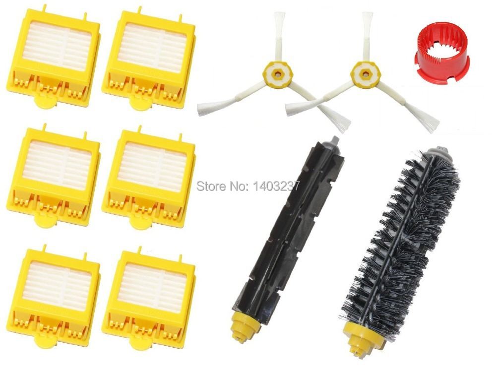Hepa Filters Side Brushes Flexible Beater Brush Bristle Brush Cleaning Tool For iRobot Roomba 700 Series 760 770 780 790 hepa filters bristle brush flexible beater brush 3 armed side brush pack set for irobot roomba 700 series 760 770 780 790