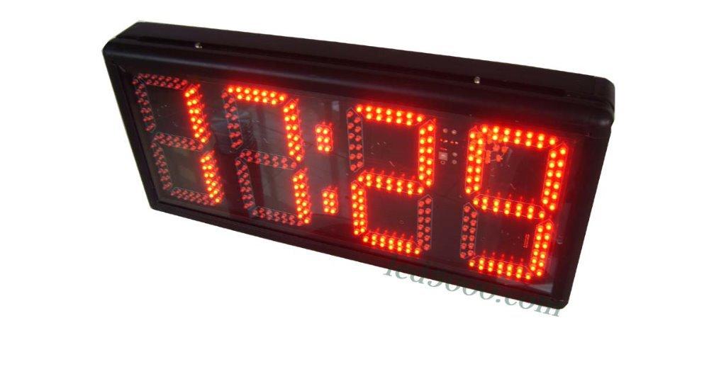 velká velikost 8 palců výška znak 4digits červené hodiny času a teploty (HST4-8R) nástěnné hodiny