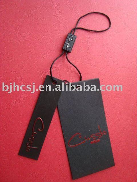 black embossed hang tags