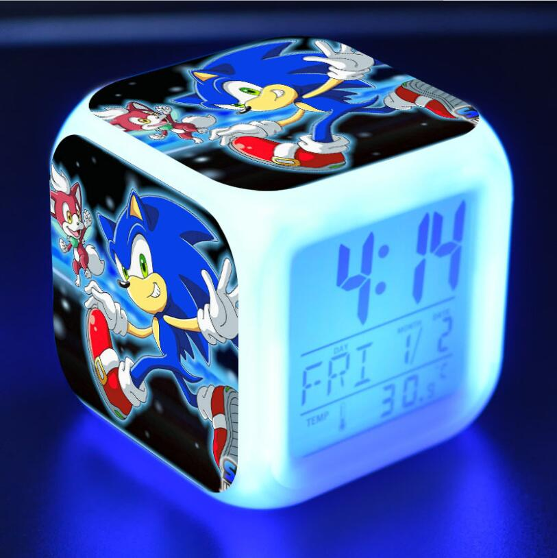Sonic The Hedgehog LED Cube Alarm Clock 29