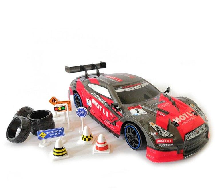 1:16 28km//h 4WD 2.4Ghz RC Drift Racing Car High Speed GTR Remote Control Car Toy