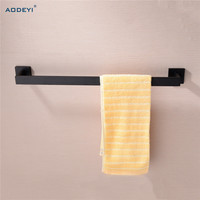 AODEYI Matte Black Wall Mount Towel Holder Bathroom Single Towel Bar 304 Stainless Steel 618mm Rack Bathroom Accessories