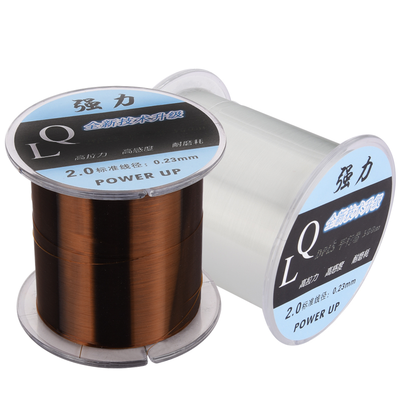 DongLiang 500M Fishing Lines Fluorocarbon Strong Japan Monofilament Nylon Carbon Fiber Leader Fly Fishing Line Pesca