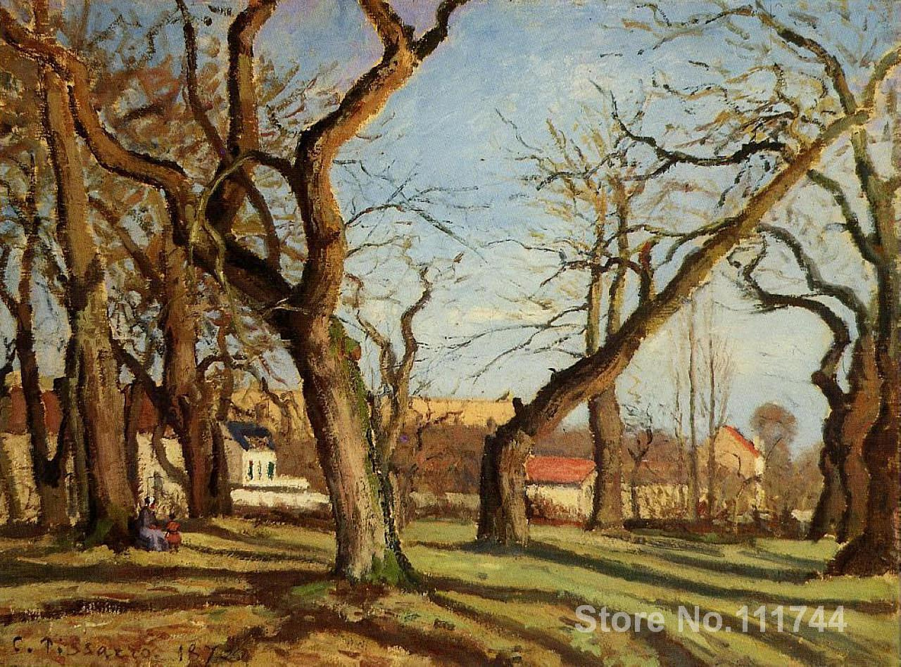 canvas art Chestnut Trees at Louveciennes Camille Pissarro oil painting reproduction High Quality Handmadecanvas art Chestnut Trees at Louveciennes Camille Pissarro oil painting reproduction High Quality Handmade