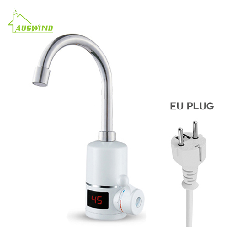 3000W Electric Kitchen Faucet Instant Heating Tap 3 seconds heating water heater faucet with LED Digital Display EU Plug CE electric water heater led digital kitchen faucet tap instant heating kitchen au plug household 220v 3000w
