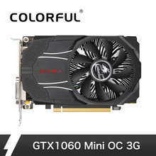 Warna-warni NVIDIA GeForce GTX1060 Mini OC 3G Kartu Grafis 1531/1746 M Hz 8 Gbps GDDR5 192bit PCI-E 3.0 dengan HDMI DP DVI-D Port(China)