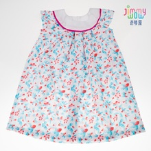 2019 New style spring summer children girls dress cute baby girls print goldfish dresses school cotton dress princess clothes keelorn girls dress 2018 summer new style girls clothes children clothing cute cat print solid bow voile princess dress for3 7y