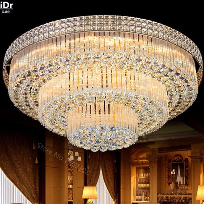 Himalayan Salt Lamp | Crystal Light | Golden Circular living room lamp crystal lamp S King Cake bedroom living room lights LED lights Ceiling Lights Voltage 110V-240V