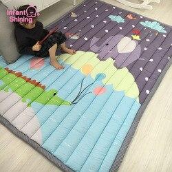 Блестящие детские коврики для игр 140X195 см, плотное одеяло 2,5 см с рисунком из мультфильма, детский игровой ковер, машинная стирка, коврики