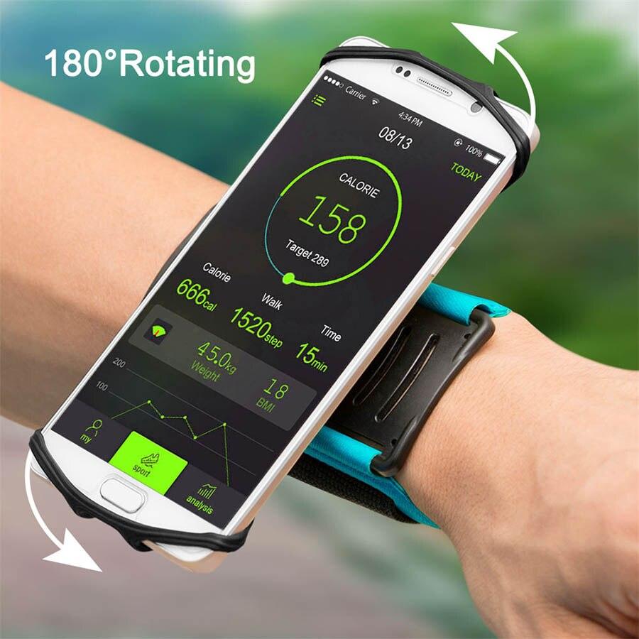180 grad Drehbare Läuft Armband Telefon Fall Arm Band Sport Radfahren Gym Armband Gürtel Armband Tasche für 4-5,5 zoll Smartphone