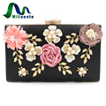 Milisente 2017 New Arrival Spring Flower Bags Women Clutch Bag Ladies Party Shoulder Handbag Purses White Black
