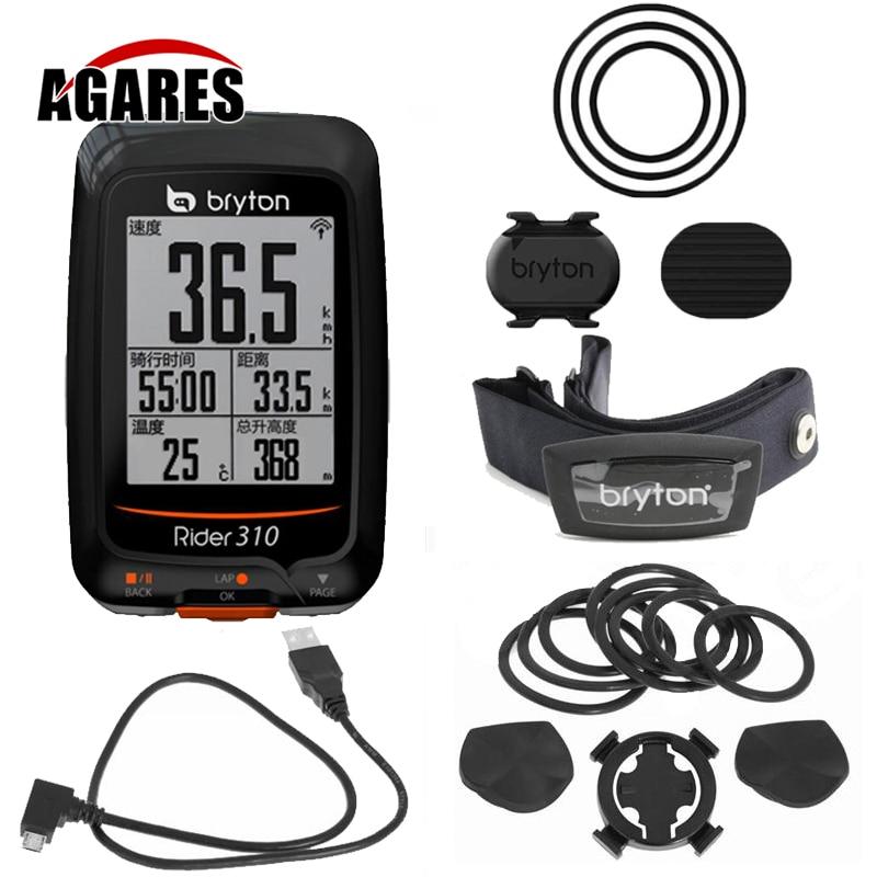 2018 NOUVEAU Bryton Rider 310 Activé GPS Étanche Vélo Vélo ordinateur compteur de vitesse 200 500 510 800 810 mont