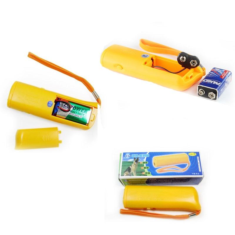 2018 New Pets Power Repellent Flashlight Dog Anti Bark Stopping Bark Training Trainer Ultrasonic LED Case