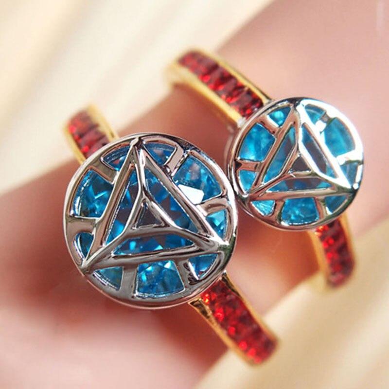 Handgemachte Avenger Iron Man Ring 925 Silber Multi Farbe Ring Eisen Mann Reaktor Ring für Paare Schmuck Präsentieren
