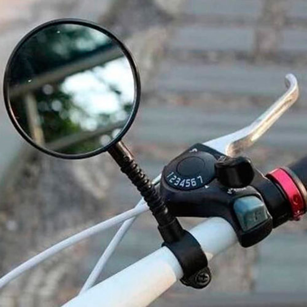 Bicycle Mirror Adjustable Flexible Cycling Rear View Convex Mountain Bike Handlebar Rearview Mirror Cycle Bicicleta Accessories flexible bicycle helmet rearview mirror black