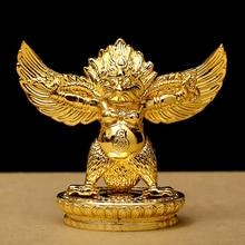 Буддийский сплав металла золочение золота Fengshui поставщиков Lucky Roc Garuda большой золотой Крылатый Пэн птица характер