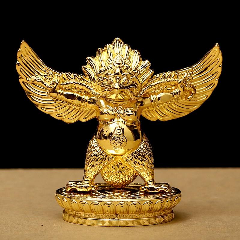 Buddhist Alloy Metal Gilding Gold Fengshui Suppliers Lucky Roc Garuda Great Golden-winged Peng Bird Character