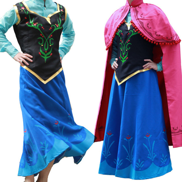 princess anna costume frozen anna dress adult cosplay halloween costumes for women frozen anna dress fantasy  sc 1 st  AliExpress.com & princess anna costume frozen anna dress adult cosplay halloween ...