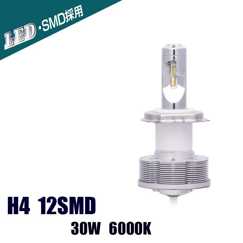 H4 LED Headlights Automotive 12SMD Super Bright 40W 6000K White Lights 10V-40V LED Bulbs лампа для чтения 1 x 401410 12smd 31 36 39 41