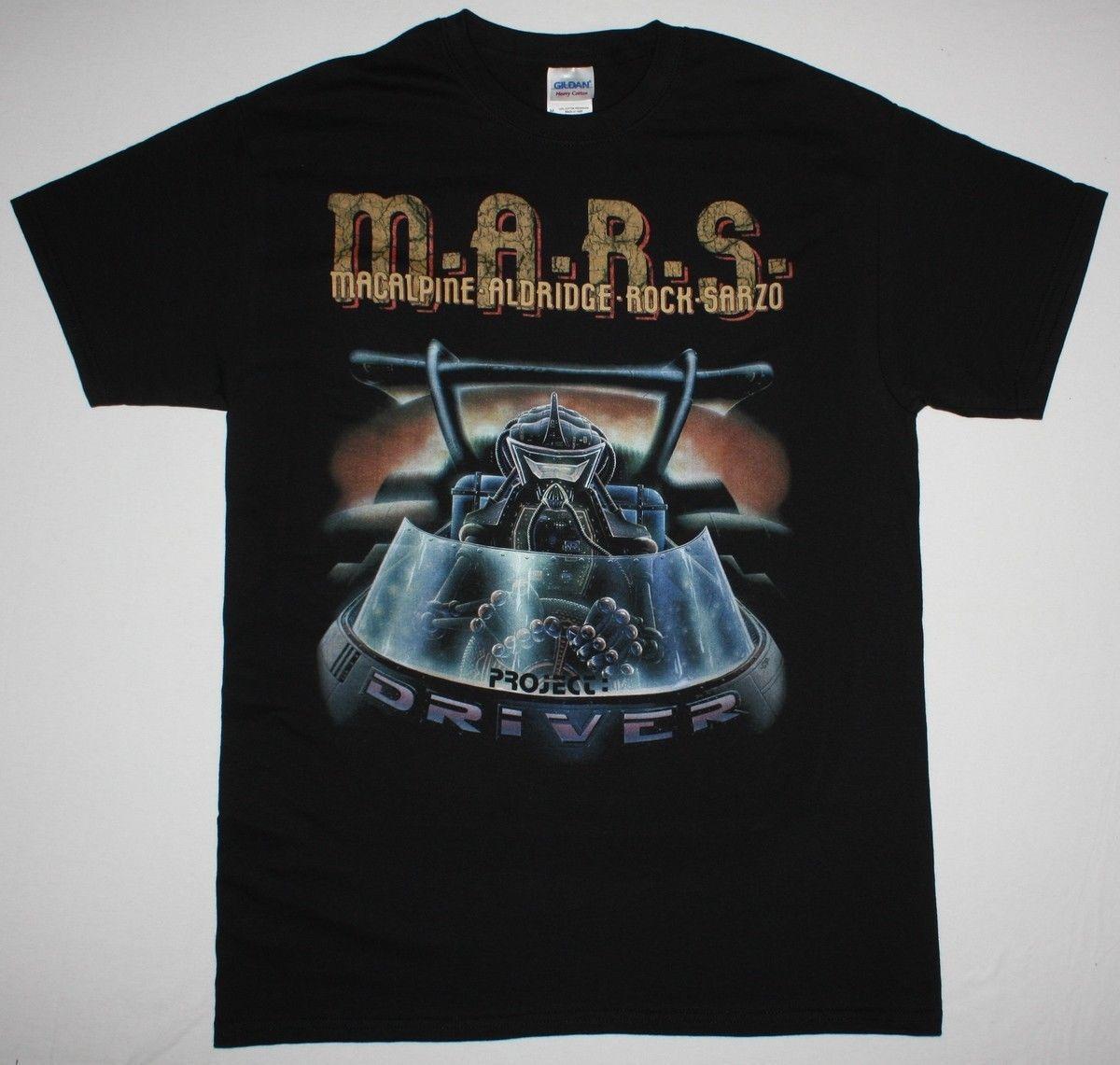 M.A.R.S. PROJECT DRIVER BLACK T SHIRT MARS BAND MACALPINE SARZO ALDRIDGE