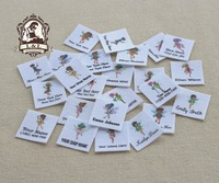 96 Custom Logo Labels Children S Clothing Tags Name Tags White Organic Cotton Labels Flower Fairy