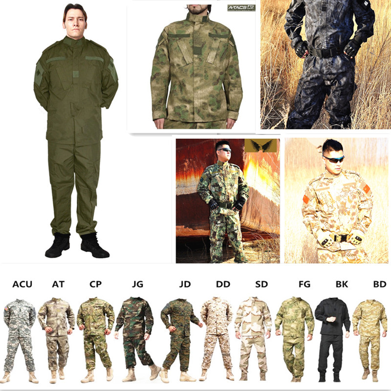 CS Paintball Suit,Combat BDU Uniform,Military Uniform bdu,Hunting Suit,Wargame,Jacket+Pants Set Tactical Jacket 13 Colors airsoft adults cs field game skeleton warrior skull paintball mask