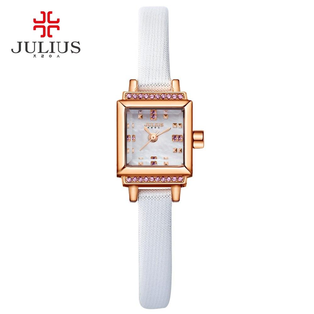 JULIUS Women Watch leather band Stainless Steel Ladies Designer Japan Movt Quartz Watch Quality WR30m Watch With Logo JA-880 NEW