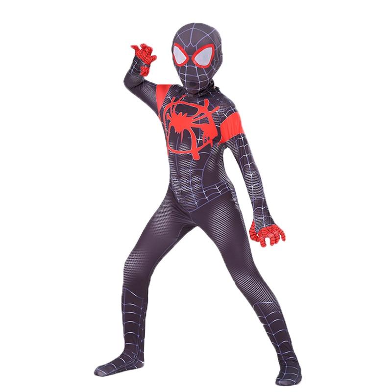 6620cf5aba9 Boys Clothes Sets Miles Morales Spiderman Costume Spider Man Cosplay Kids  Superhero Zentai Spiderman Halloween Party