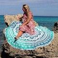Roudie Mandala Indian Beach Throw Hippie Multi Color Tapestry Green Flower Shaped Hot Sale Round Bath Beach Towel L38357