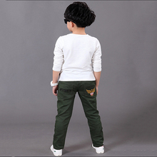 Kids Jeans for A Boys Trousers Casual Elastic Waist Pencil Pants for 4-16T Children's Jeans Pants Clothes Clothing
