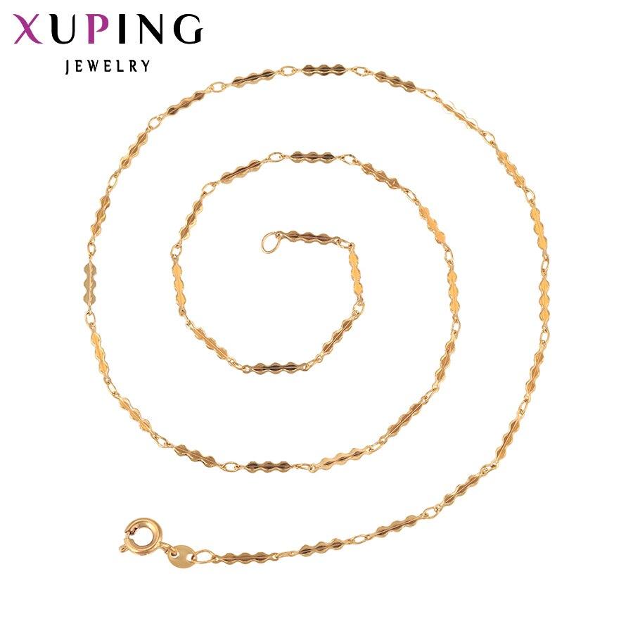 Xuping divat nyaklánc új design hosszú nyaklánc arany színű aranyozott nyaklánc nők lánc ékszer top eladó ajándék 42262  t