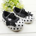 Free shipping Baby girl Shoes cute Polka Dot Pattern Children's Footwear kawaii Bowties shoes for girls