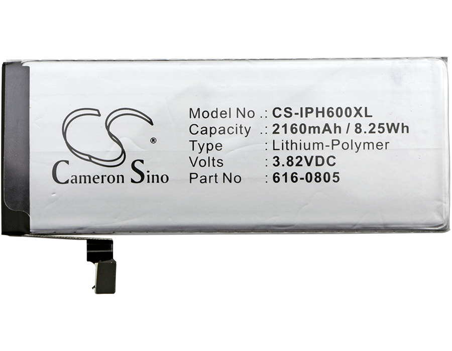 Cameron Sino 2160mAh Battery 616-0804, 616-0805, 616-0806, 616-0809 for Apple A1549, A1586, A1589, iPhone 6Cameron Sino 2160mAh Battery 616-0804, 616-0805, 616-0806, 616-0809 for Apple A1549, A1586, A1589, iPhone 6