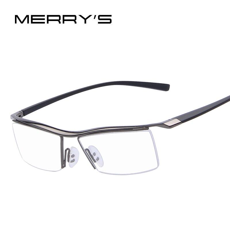 Merry's Для мужчин оптический Рамки S Оправы для очков стойки коммерческих Очки Мода глаз Очки Рамки близорукость Титан Рамки TR90 НОГИ
