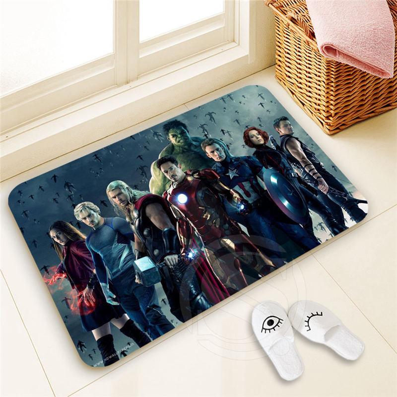 H-P250 Custom Avengers #2 Doormat Home Decor 100% Polyester Pattern Door mat Floor Mat foot pad SQ00722-@H0250