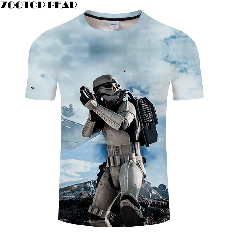 Armor Anime Men Shirt 3D Print Star Wars Fitness Breathable Summer Casual Tops NEW Lego Shirts Cool Tee QuickDry Male ZOOTOPBEAR