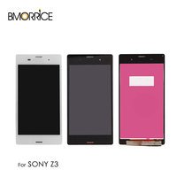 For Sony Xperia Z3 L55t D6603 LCD Display Touch Screen Without Frame Digitizer Assembly Replacement Original 5.2 Black White
