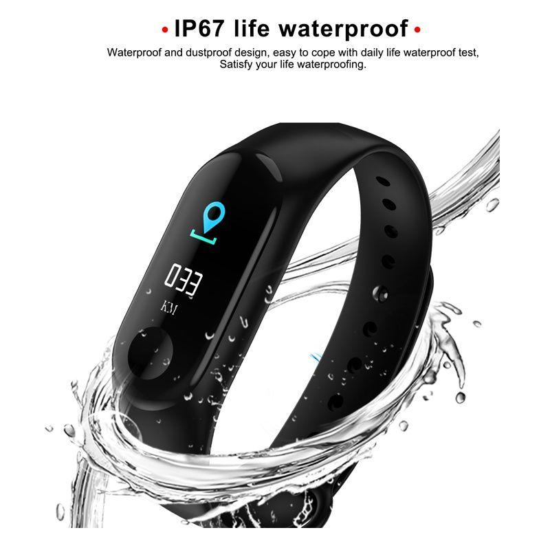 IP67 banda inteligente impermeable M3 Fitness Tracker reloj natación GPS Tracker Monitor de ritmo cardíaco Real Smartband Dropshipping