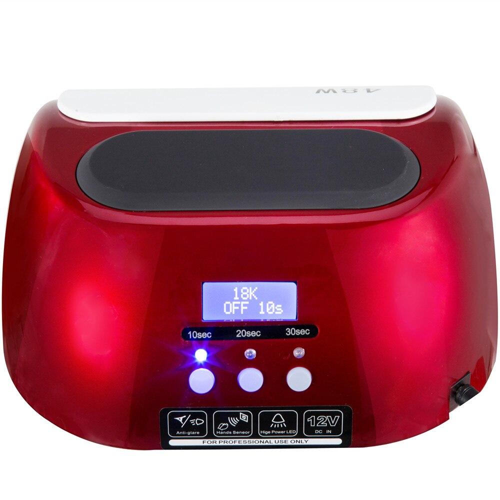 Séchoir à ongles 48 W Lampe UV Avec LCD Affichage Écran Professionnel Lampe Ongles Séchage Machine Durcissement Gel Nail Outils