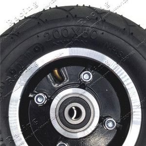 """Image 3 - Electric Scooter Tyre With Wheel Hub 8"""" Scooter 200x50 Tyre Inflation Electric Vehicle Aluminium Alloy Wheel Pneumatic Tire"""