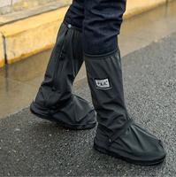 Женская и мужская обувь дождь охватывает Водонепроницаемый Нескользящие мотоциклетные дождь загрузки галоши носить толстые Wellington